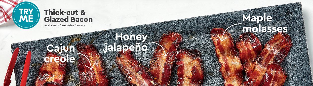 Store Prepared Thick-Cut Bacon